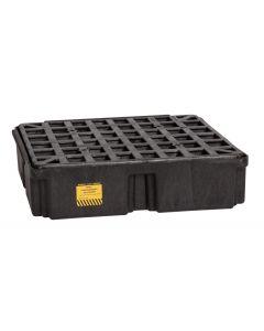 1 Drum, 15 Gallon Sump Capacity, Modular Spill Containment Platform without Drain, Black - 1633B