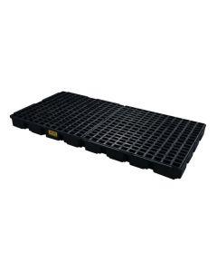 8 Drum, 121 Gallon Sump Capacity, Modular Spill Platform, Without Drain, Black - 1688B