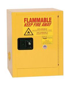 Bench Top Flammable Liquid Safety Cabinet, 4 Gallon, 1 Shelf, 1 Door, Self Close, Yellow